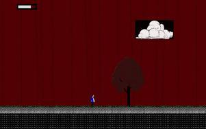Så här kan det se ut när konst och dataspelsutveckling sammanstrålar. Bild av konstnären Olle Essvik.    Foto: Olle Essvik