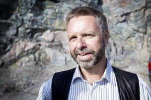 """arrangör. """"Vi hade riktig tur med vädret, det blev succé"""", säger arrangören Anders Rundlöf som är vd för bergtäkten vars grus blir till vägar runtom i Sverige.Foto: Lina Westman"""
