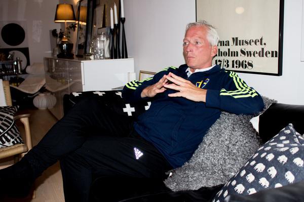 Håkan Sjöstrand, Svenska Fotbollförbundets generalsekreterare, i sin villa på Framnäs.