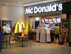 McDonald's-restaurangerna växer i takt med att klimatet blir allt mer oförutsägbart. Här är en restaurang i Dukhan i Qatar.
