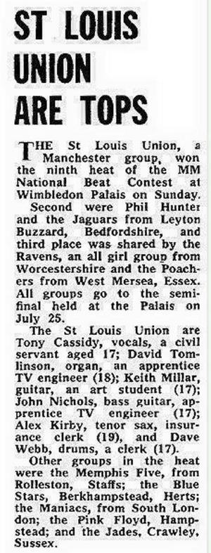 Första omnämnandet om Pink Floyd i brittisk press, 1965.