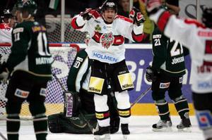 Magnus Wernblom slutar spela ishockey. Det beskedet kom efter måndagens match mellan Modo och Djurgården.Foto: LARS HEDELIN