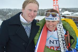 Ida Ingemarsdotter vann damklassen och fick kransen av Einar Otto Ingulfsvann.