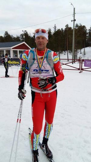 Lars-Åke Dickfors strax efter målgången.