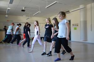 Dansgruppen visade prov på sina nya kunskaper i linedance.