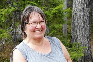 Losbon Ingrid Fredlund har också haft björnbesök i vår.