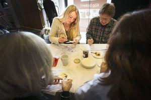 Lena Flaten från restaurang Flamman i Storlien var juryordförande i klassen Klassisk sylt/Kryddad sylt.