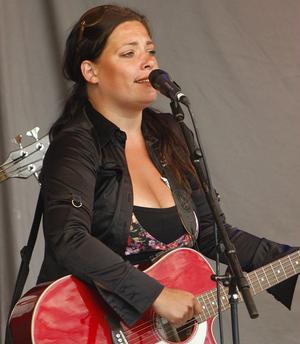 Sanna Carlstedt spelade tillsammans med Johan Johansson.