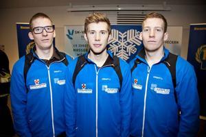 Kristian Lindström, till vänster, kan skriva in