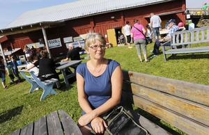 Karin Wallén, initiativtagare till den allra första Husdjursdagen i Alsen, var för första gången där enbart som besökare.