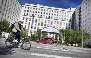 Det här är huvudentrén till Norrlands universitetssjukhus i Umeå