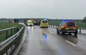 Trafikolyckan inträffade den 7 juni vid vid 12.40-tiden.