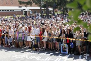 Många var de som samlats för att fira sina studenter.