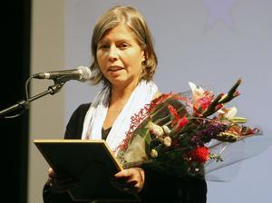 Stort tack i Esbjörns namn, sa hustrun Eva Svensson, som tog emot det postuma stipendiet.