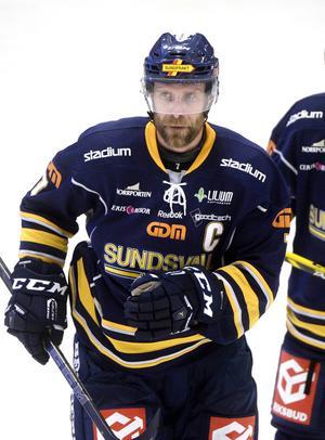 Sundsvall Hockeys lagkapten Johan Svedberg.