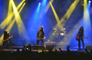 Det var inte ofta det blänkte till under konserten med WASP i Östersund i lördags.