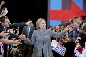 Hillary Clinton inledde sin kampanj på allvar i Iowa.