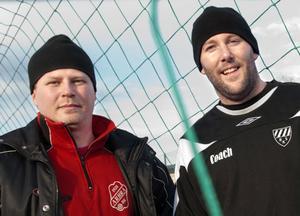 Micke Rosén och Anders Olsson har en trupp tillsammans, något som ska ge både Arbrå och Rengsjö extra stabilitet.