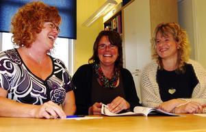 Studieanordnare. Zenitha Hermansson, Ylva Ljungqvist och Annika Skansen vid Lärcentrum har mängder av utbildningsmöjligheter att erbjuda. Foto:Göran Danielson