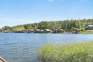 Sjöbod vid Norrfällsviken.