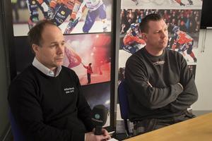 Bollnäs Bandy höll presskonferens om bandyhallsfrågan.