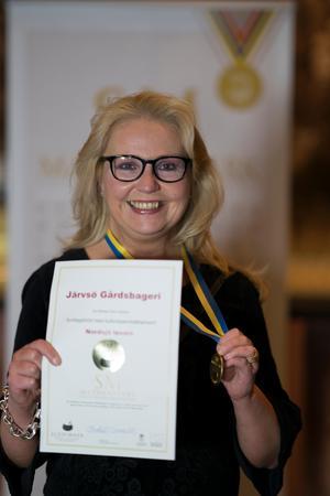 Anna Bergenudd, Järvsö Gårdsbageri, fick guldmedalj. Foto: Stéphane Lombard.