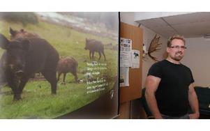 Erik Mattson berättade om vildsvinsförvaltningen. Foto: Curt Kvicker