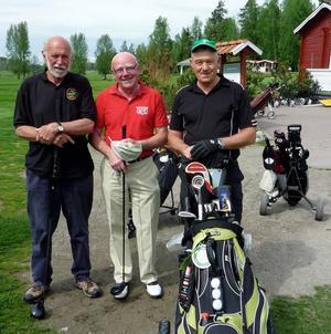 Lagledare Club 10, Björn Ahnesjö med Rune Häggkvist och Lars-Erik Wiklund.