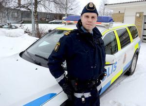 David Redin har stor erfarenhet av att arbeta som polis i glesbyggda områden. Han tror att landsbygden gynnas av den nya polisorganisationen som börjar gälla 2015.
