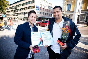 Bröderna Johansson prisades för sitt civilkurage.