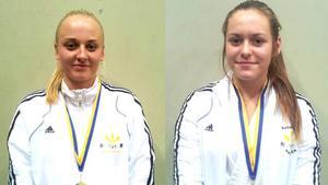 SM-medaljörer. Sara Raftsjö, till vänster, tog silver och Andrea Ericsson, till höger, tog guld.