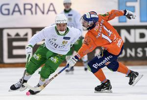 Robin Sundin i matchen där Hammarby vann stort över Bollnäs.