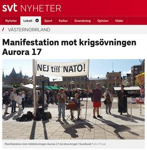 Skärmdump från SVT