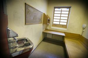 En av Västeråshäktets celler som med största sannolikhet aldrig kommer att hysa någon häktad person igen.