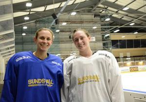 Elena Orlando och Brittany Dougherty ska förhoppningsvis frälsa sitt nya lag Sundsvall Wildcats.