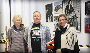 Cicily E Bäckström, Hans-Olof Hannes Holm och Ewa Bergman ställer ut hos Sollefteå konstförening.
