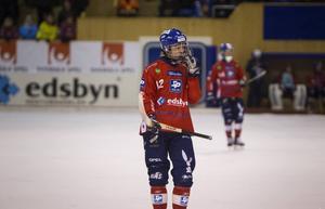 Jocke Svensk var en gigant i Edsbyns försvar tillsammans med mittbackskollegan Daniel Välitalo.