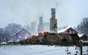 Trots räddningstjänstens snabba arbete kunde man inte bemästra branden. FOTO: MIKAEL ERIKSSON/ARKIV
