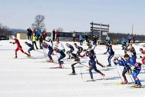 160 åkare startade i det anrika Pilgrimsloppet utanför Högvålen för att köra 28 kilometer till Lofsdalen.