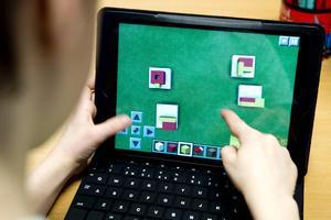 På Skönsmons skola i Sundsvall använder eleverna i årskurs ett Minecraft i engelska-, svenska- och matematiklektionerna.