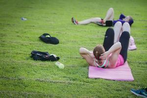 Tabata är högintensiv träning där deltagarna arbetar hårt i tjugo sekunder och sedan vilar i tio sekunder, innan nästa 20 sekunder drar i gång igen.