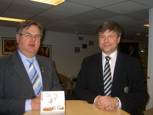 Ytterhogdals Leif Nilsson och Elfsborgs ordförande Bosse Johansson från Sveg ställs mot varandra i Svenska cupen.