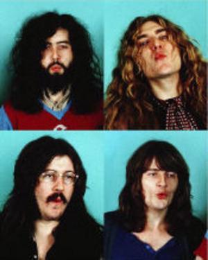 Jimmy Page, Robert Plant, John Bonham och John Paul Jones i Led Zeppelin. Nu får de som första hårdrocksband polarpriset.