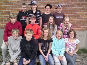 ( Foto: Kent Olsson ) Klass 5 vid Rotebergs skola vann årets upplaga av den lokala Majblommetävlingen i Ovanåker.