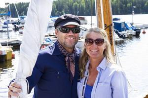 Katarina Halvarsson och Magnus Hård, Stockholm, köpte Roslagssnipan Albina för bara en och halv vecka sedan.