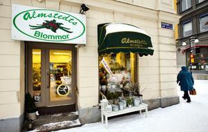 Butik försvinner. Almstedts blommor lämnar Stortorget. Kvar blir bara butiken på Storgatan.Foto: Lennart Lundkvist