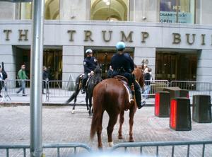 Ridande polis på Wall street. Säkert.