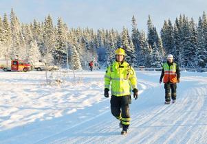"""Räddningsledare Mats Nicolson, Åre räddningstjänst, varnar för halkan på Årebjörnens branta, slingriga vägar. """"Kör försiktigt"""", är hans råd."""