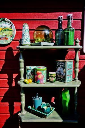 Grönt är skönt. Anita Ross gillar grönt och det har Anna Nyman tagit fasta på i sin installation.