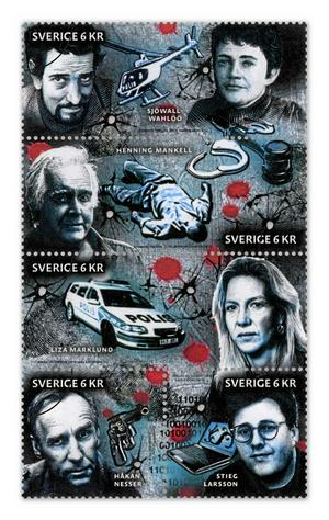 Deckarförfattare är Postens nya frimärksmotiv.